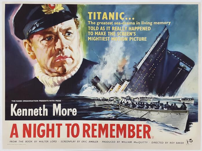 Kenneth Moore interpretava Titanic, Latitudine 41 Nord