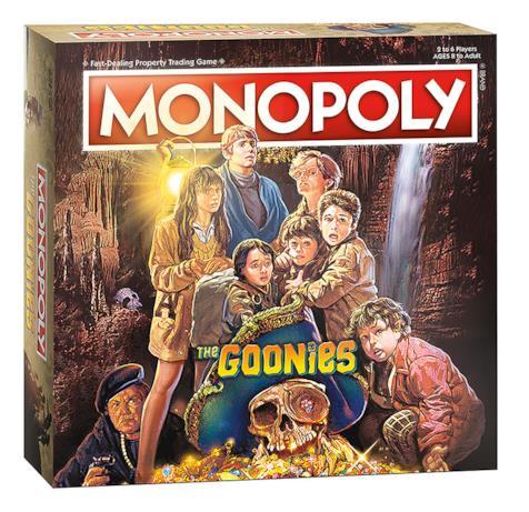 La locandina di Goonies ripresa sulla confezione del Monopoly dedicato al film
