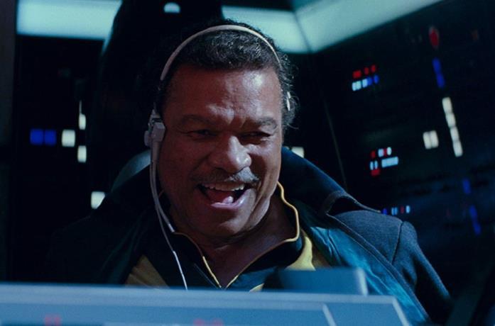 Billy Dee Williams in una scena del film Star Wars: L'ascesa di Skywalker