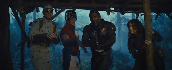 Da sinistra: Polka-Dot Man, Peacemaker, Bloodsport e Ratcatcher 2