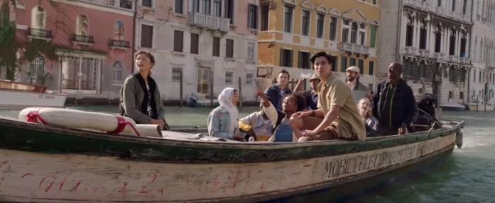 Peter Parker e gli amici in vacanza a Venezia, screen dal trailer di Spider-Man: Far From Home