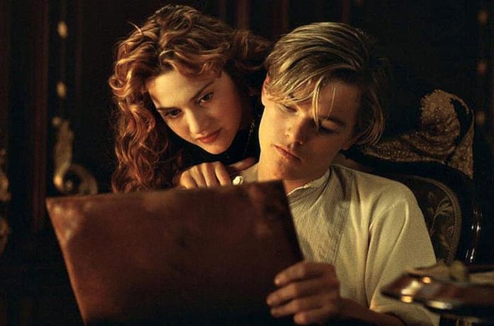 Una scena di Titanic