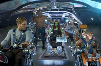 I Guardiani della Galassia sulla loro astronave