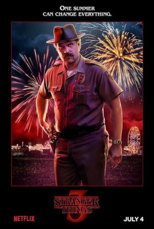 Hopper, lo sceriffo di Stranger Things 3
