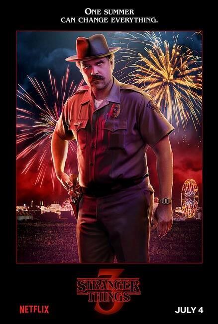 Stranger Things 3: il poster di Jim Hopper