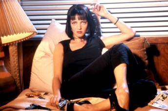 Uma Thurman in una scena di Pulp Fiction