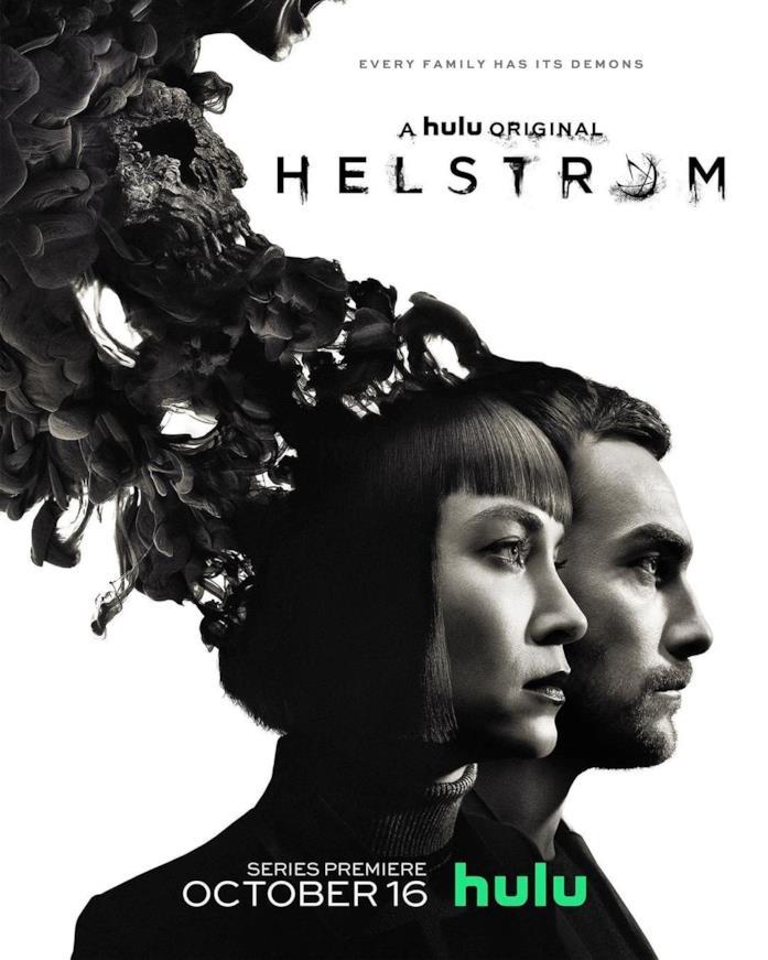 I due protagonisti di Helstrom visti di profilo