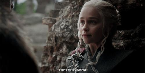 Daenerys spiga che non può avere figli