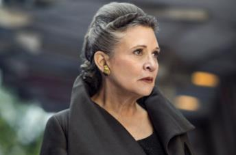 Carrie Fisher nel ruolo di Leia