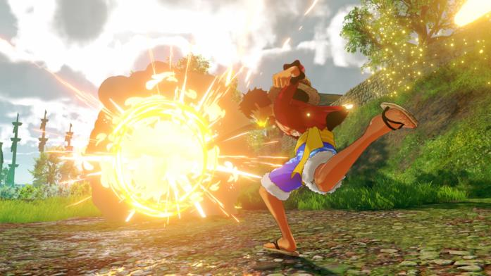 Rufy combatte in One Piece: World Seeker