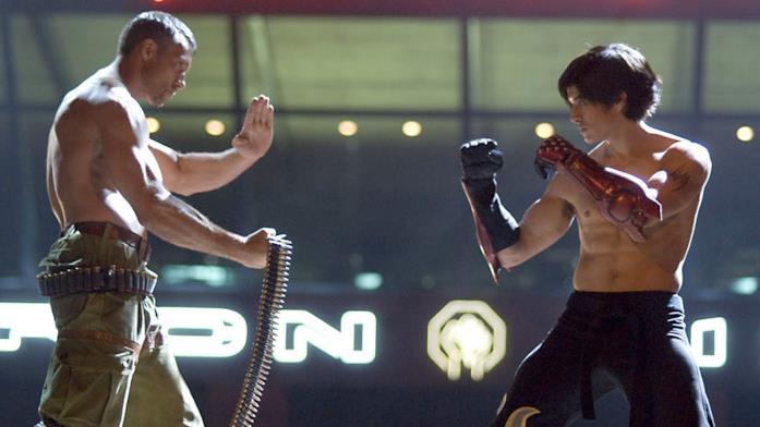 Una scena di combattimento di Tekken - The Movie