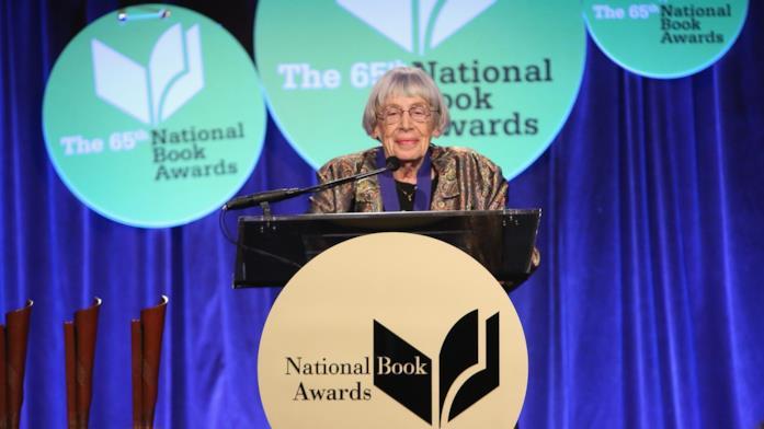 Ursula K. Le Guin in una delle sue ultime apparizioni pubbliche