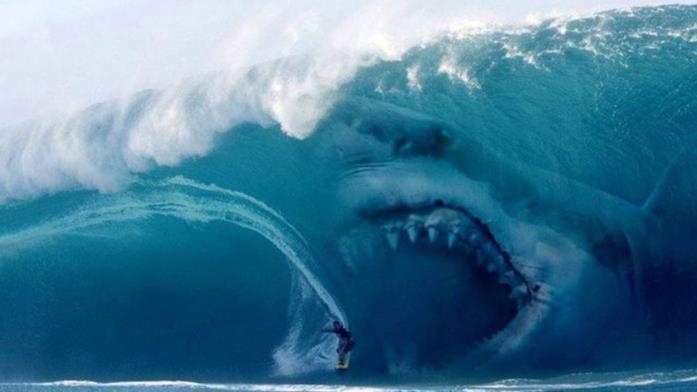 L'enorme squalo bianco assassino di Meg