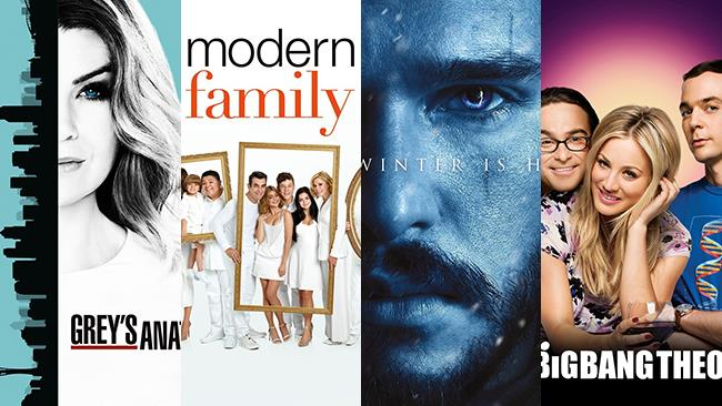 I poster di Grey's Anatomy, Modern Family, Game of Thrones, The Big Bang Theory