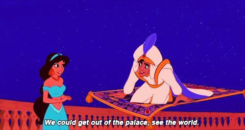 La scena del tappeto in Aladdin