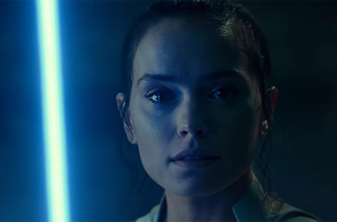 Rey in una scena di Star Wars: L'ascesa di Skywalker