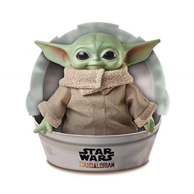 Disney Star Wars Baby Yoda di The Mandalorian, da 28 cm, Peluche Giocattolo per Bambini 3+ Anni, GWD85