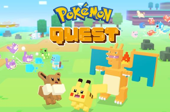 Pikachu in versione cubettosa da Pokémon Quest