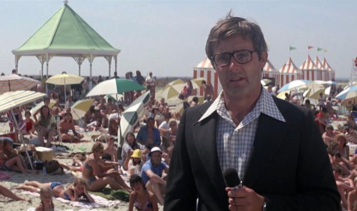 Peter Benchley sul set de Lo squalo