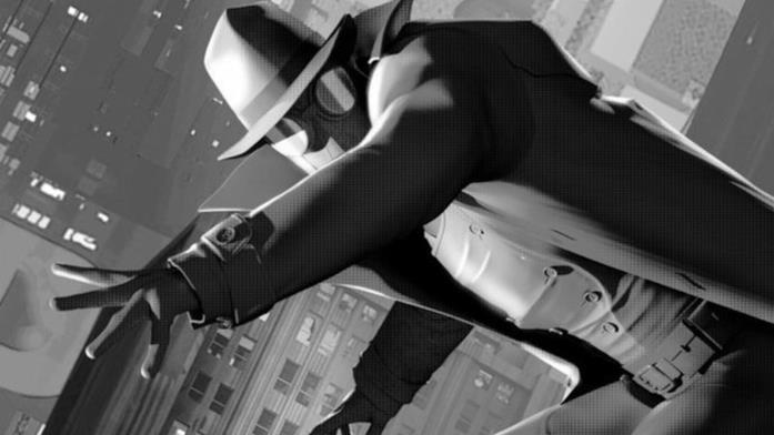 Spider-Noir in una sequenza di Spider-Man: Un Nuovo Universo