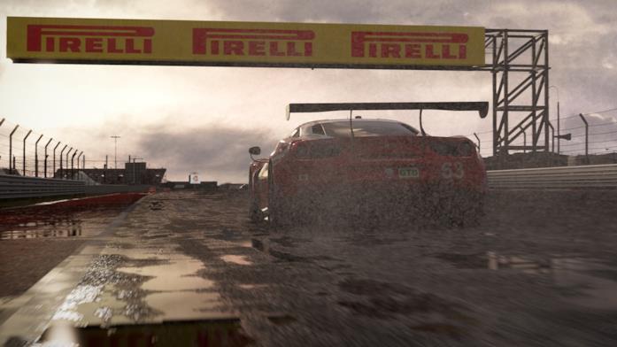 Una Ferrari sfreccia sulle piste di Project CARS 2