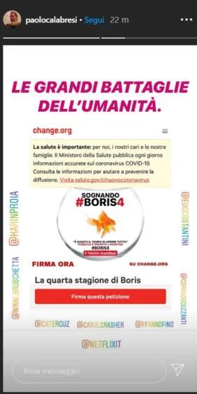 La palla d'acqua del pesciolino di Boris al cento della petizione