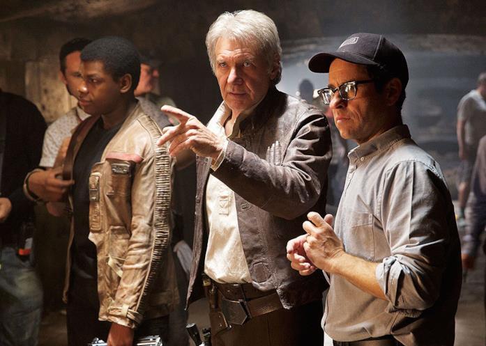 Harrison Fors e J.J. Abrams sul set di Star Wars