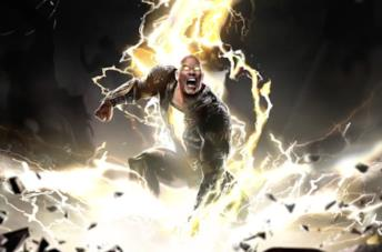 Un artwork ufficiale di Black Adam