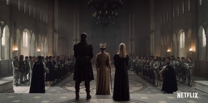 Calanthe e Ciri nel castello di Cintra