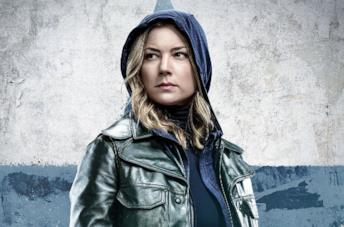 Sharon Carter in un poster promozionale di The Falcon and the Winter Soldier