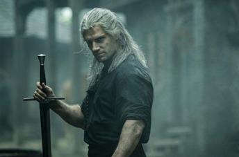Geralt nella serie The Witcher