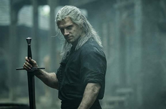 Geralt nella serie The Witcher