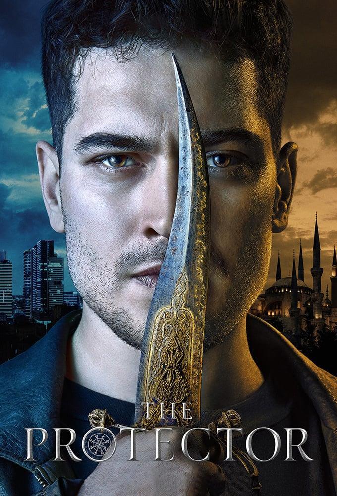 Primo piano di Çağatay Ulusoy nel poster di The Protector