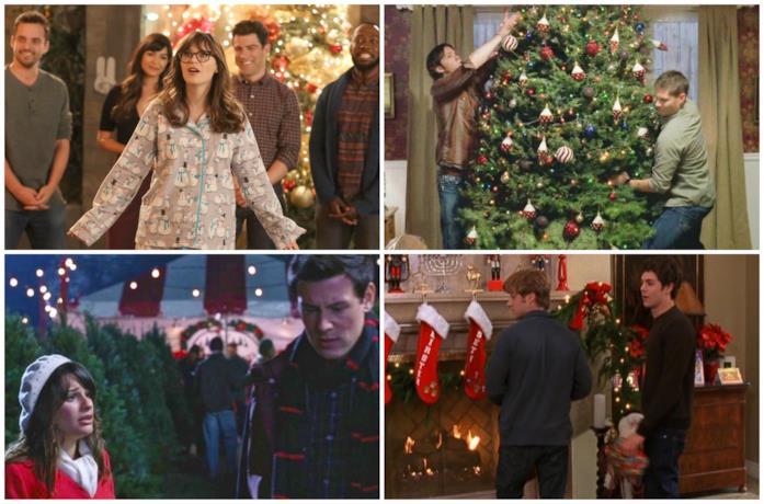 Alcune scene di New Girl, Supernatural, Glee e The O.C.