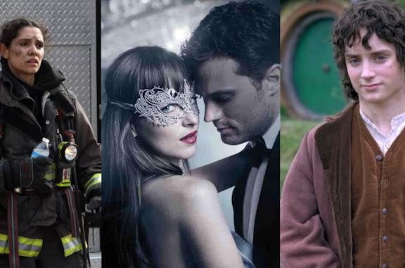 Un collage tra Chicago Fire, Cinquanta sfumature e Il signore degli anelli