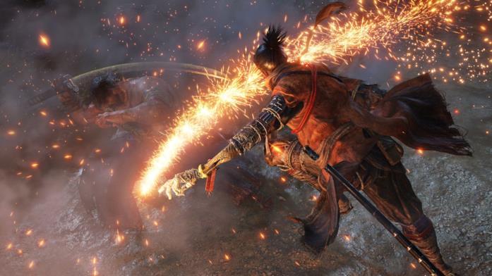Un combattimento in Sekiro: Shadows Die Twice