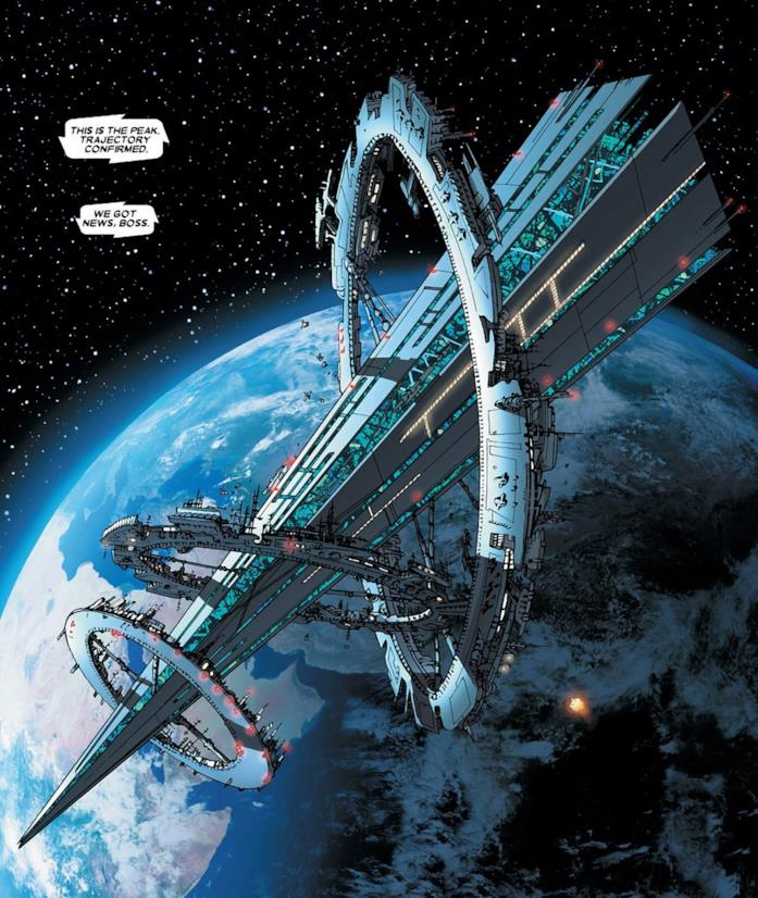 La base dello S.W.O.R.D. in una tavola Marvel Comics