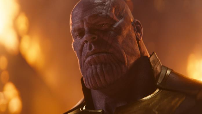 Josh Brolin come Thanos in Avengers: Infinity War
