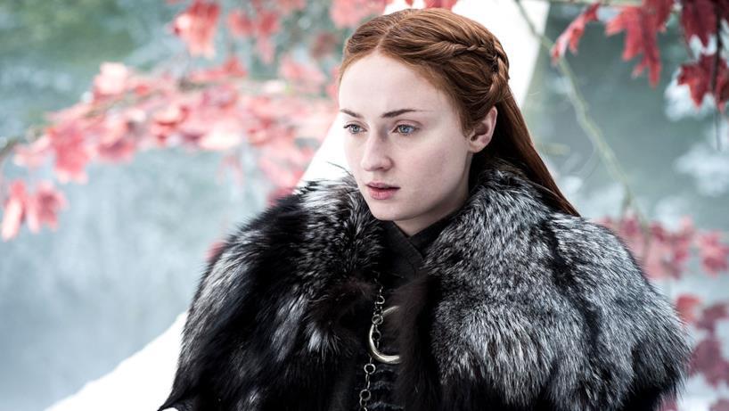 Sansa Stark davanti all'Albero Diga