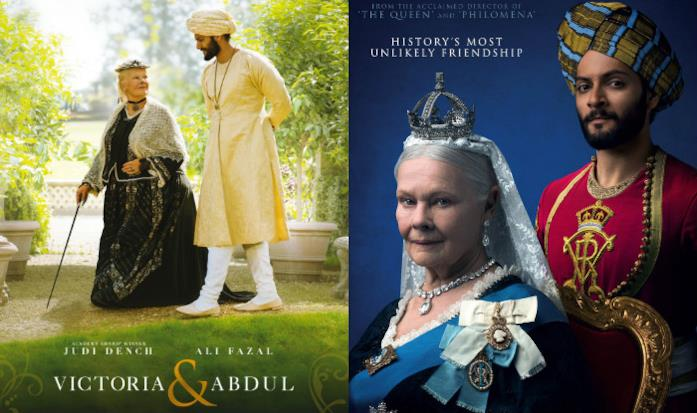 Judi Dench e Ali Fazal in costume sono i protagonisti delle locandine di Victoria & Abdul