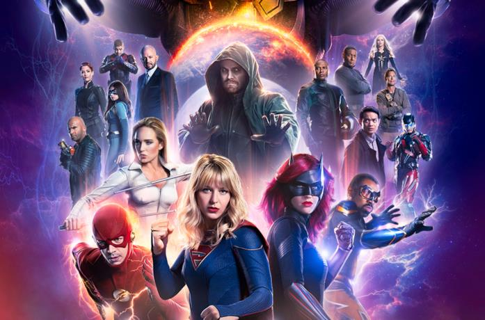 Poster del crossover Crisis on Infinite Earths