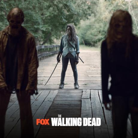 Michonne in una scena dai nuovi episodi di The Walking Dead 9