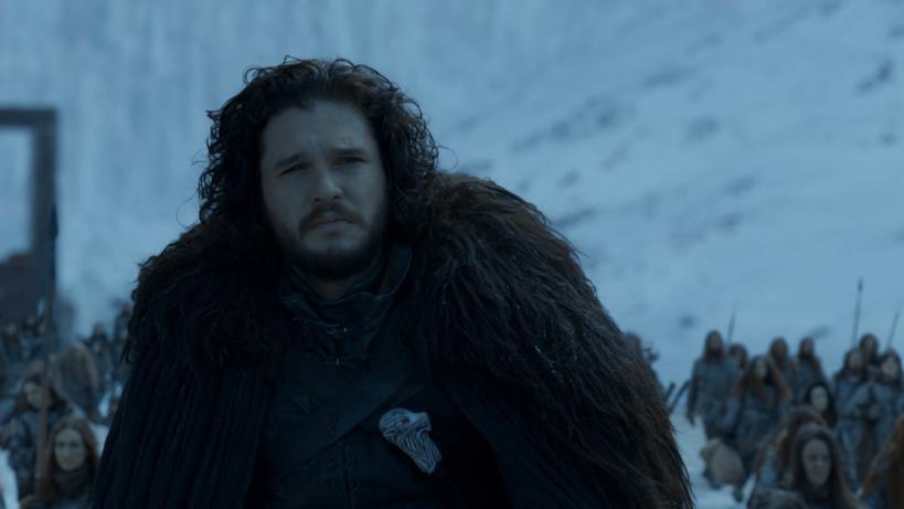 Jon oltre la Barriera nell'episodio di GoT 8x06, The Iron Throne