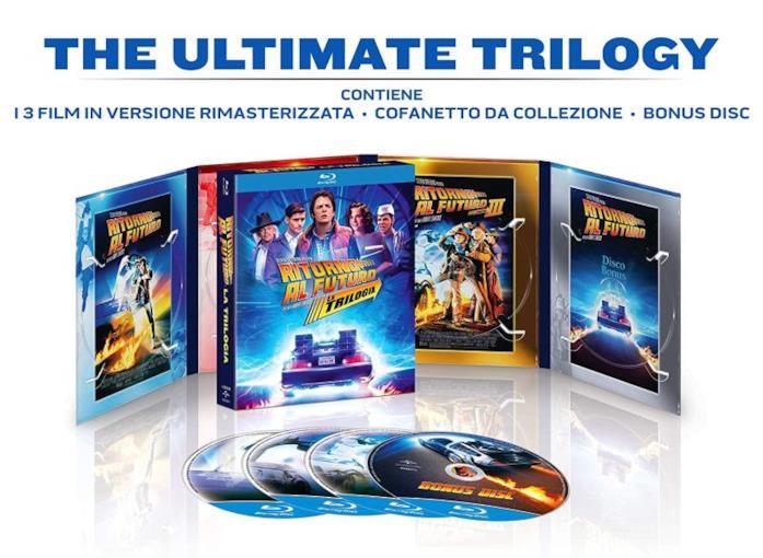 Un'immagine del box set della trilogia di Ritorno al Futuro