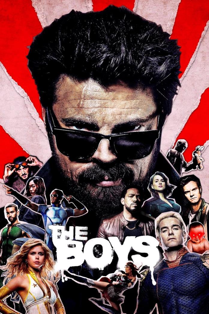 Il cast nella locandina di The Boys