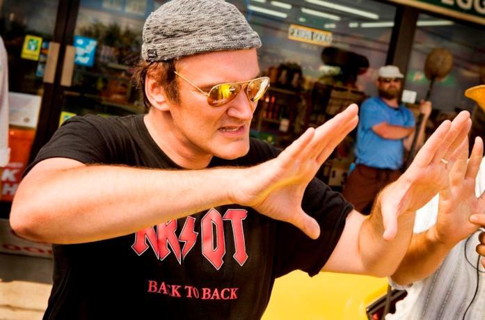 Quentin Tarantino sul set del film Grindhouse