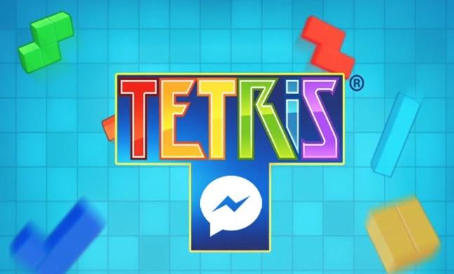 Schermata del gioco Tetris su Messenger di Facebook