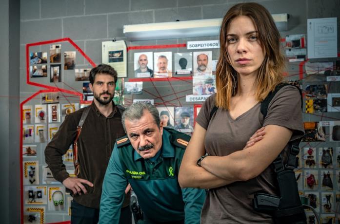 I tre protagonisti della serie spagnola Il sapore delle margherite