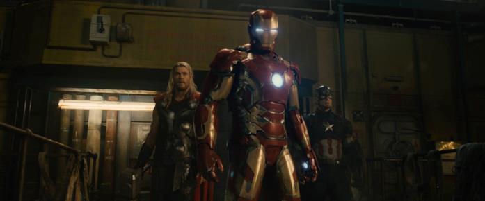 Thor, Iron Man e Capitan America in Avengers: Age of Ultron