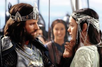 Aragorn e Arwen ne Il Signore degli Anelli - Il ritorno del re